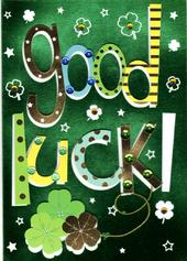 Good Luck Handmade Greeting Card