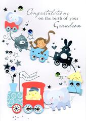 Congratulations Birth Of Your Grandson Greeting Card