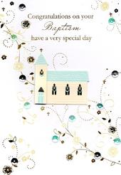 Congratulations On Your Baptism Greeting Card