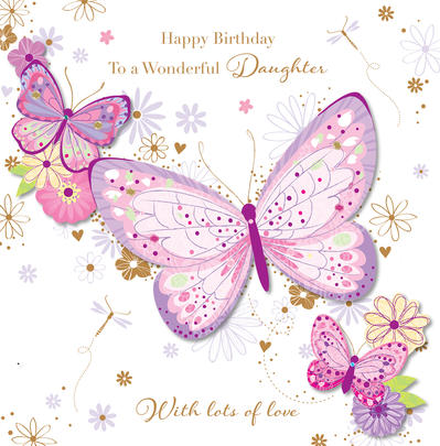 Wonderful Daughter Happy Birthday Greeting Card