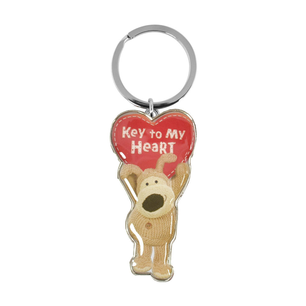 Boofle Key To My Heart Metallic Keyring