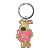Boofle Lovely Nana Metallic Keyring