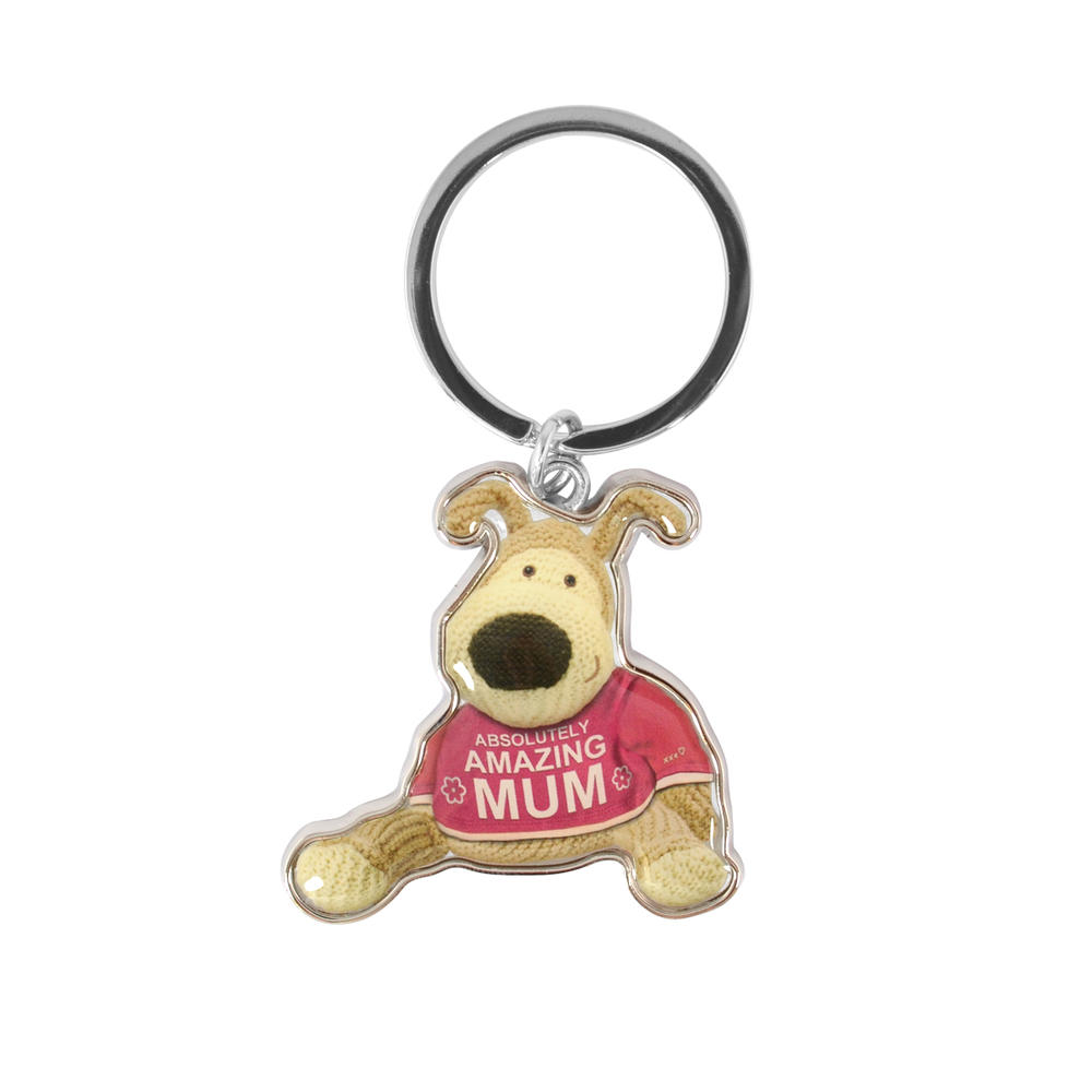 Boofle Absolutely Amazing Mum Metallic Keyring