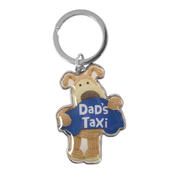 Boofle Dad's Taxi Metallic Keyring