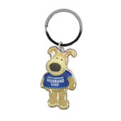 Boofle Most Handsome Husband Metallic Keyring