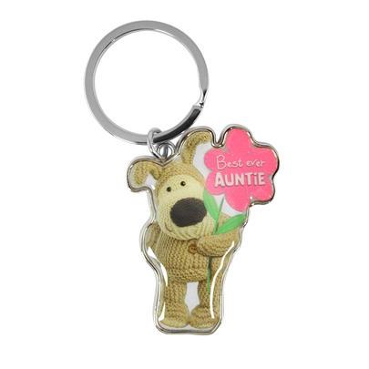 Boofle Best Ever Auntie Metallic Keyring