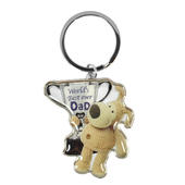 Boofle Worlds Best Ever Dad Metallic Keyring