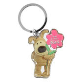 Boofle Very Lovely Nan Metallic Keyring