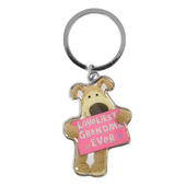 Boofle Loveliest Grandma Ever Metallic Keyring
