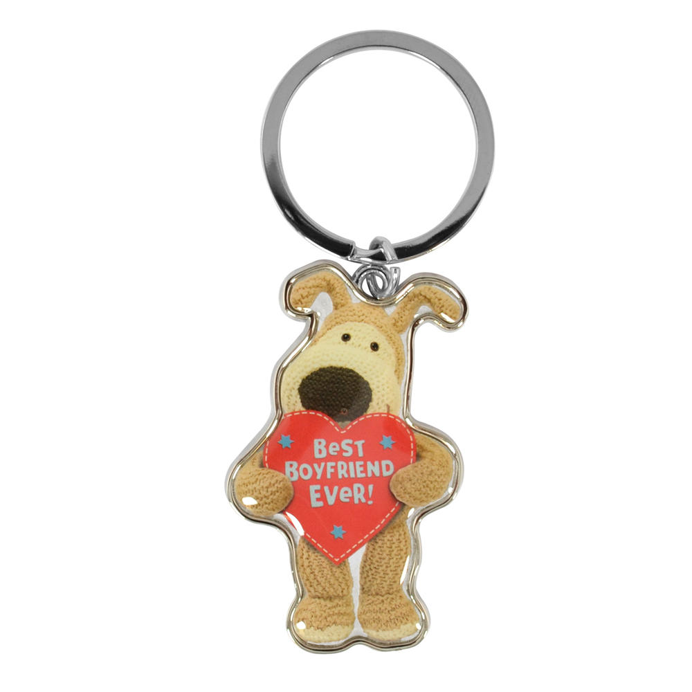 Boofle Best Boyfriend Ever Metallic Keyring