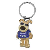 Boofle Daddy Cool Metallic Keyring