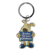 Boofle Simply The Best Grandad Metallic Keyring