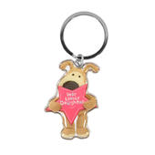 Boofle Very Lovely Daughter Metallic Keyring