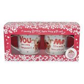 Boofle You & Me Mug Set In A Gift Box
