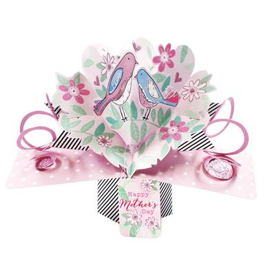 Happy Mother's Day Birds Pop-Up Greeting Card