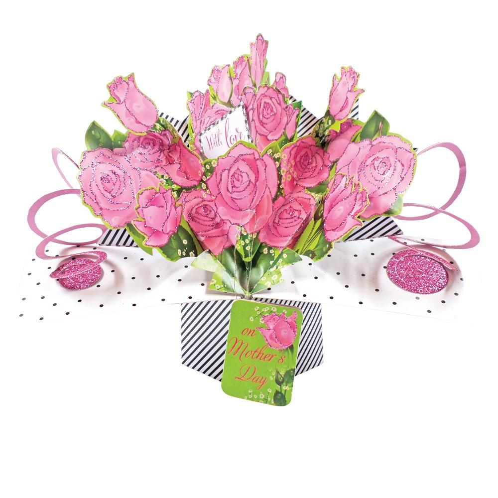 Happy Mother's Day Roses Pop-Up Greeting Card
