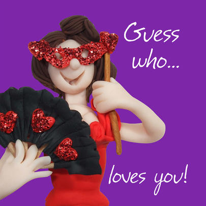 Guess Who Loves You Valentine's Day Greeting Card