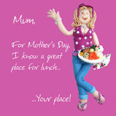 Lunch At Your Place Happy Mother's Day Greeting Card