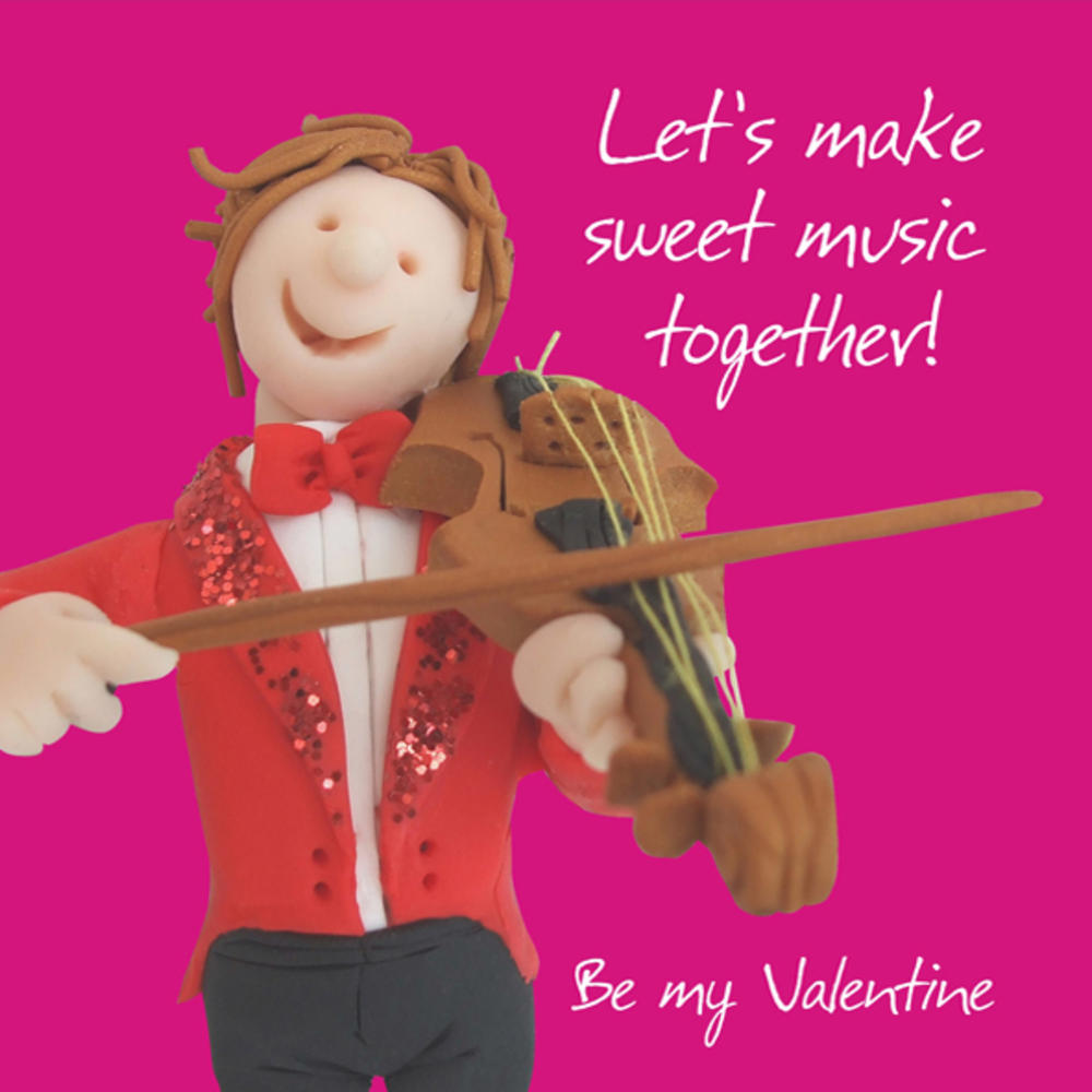 Make Sweet Music Together Valentine's Day Greeting Card
