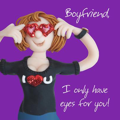 Boyfriend Eyes For You Valentine's Day Greeting Card