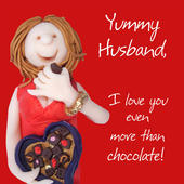 Yummy Husband Valentine's Day Greeting Card
