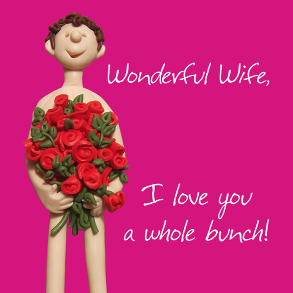 Wonderful Wife I Love You Valentines Day Greeting Card Cards