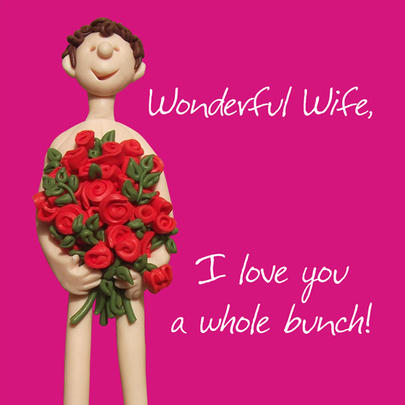 Wonderful Wife I Love You Valentine's Day Greeting Card