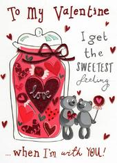 To My Valentine Lovely Foiled & Embossed Valentine's Card