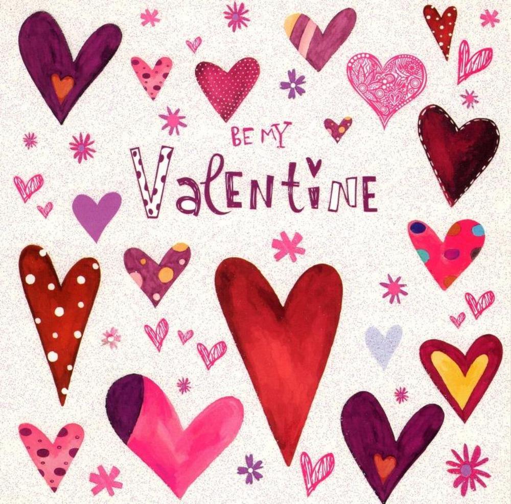 Be My Valentine Love Heart Valentine's Day Card
