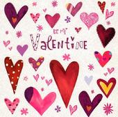 Be My Valentine Love Heart Valentine's Day Card