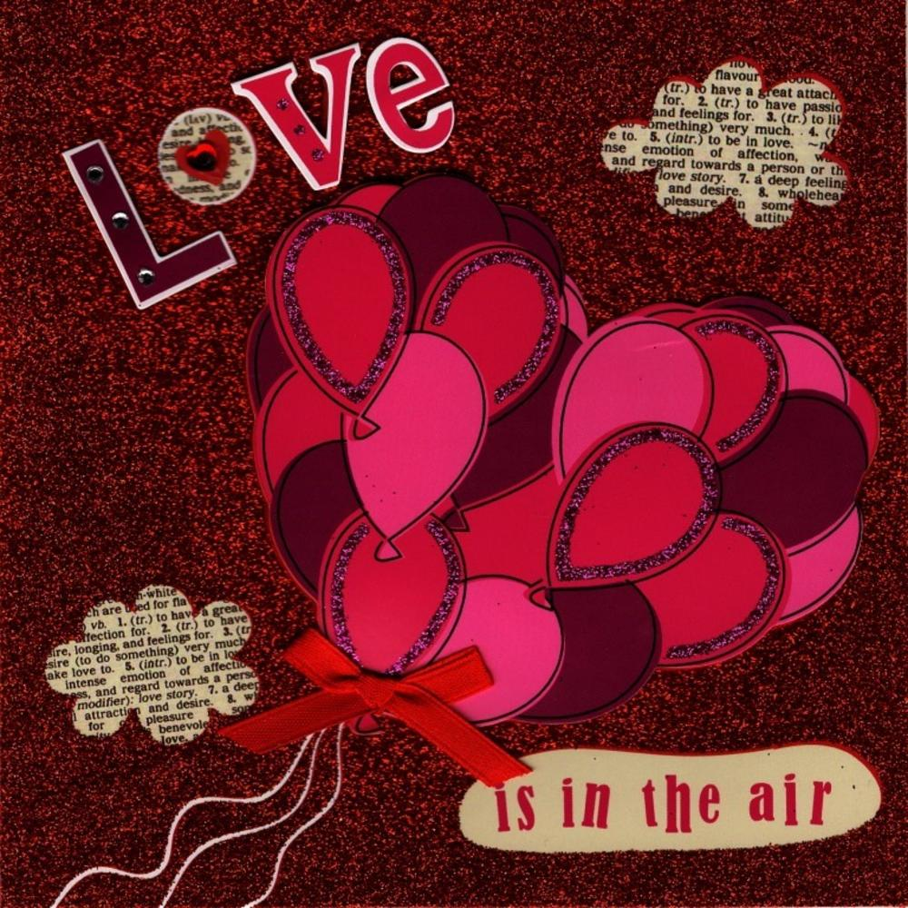 Love Is In The Air Valentine's Day Greeting Card