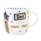 Boofle Super Star Dad China Mug In Gift Box