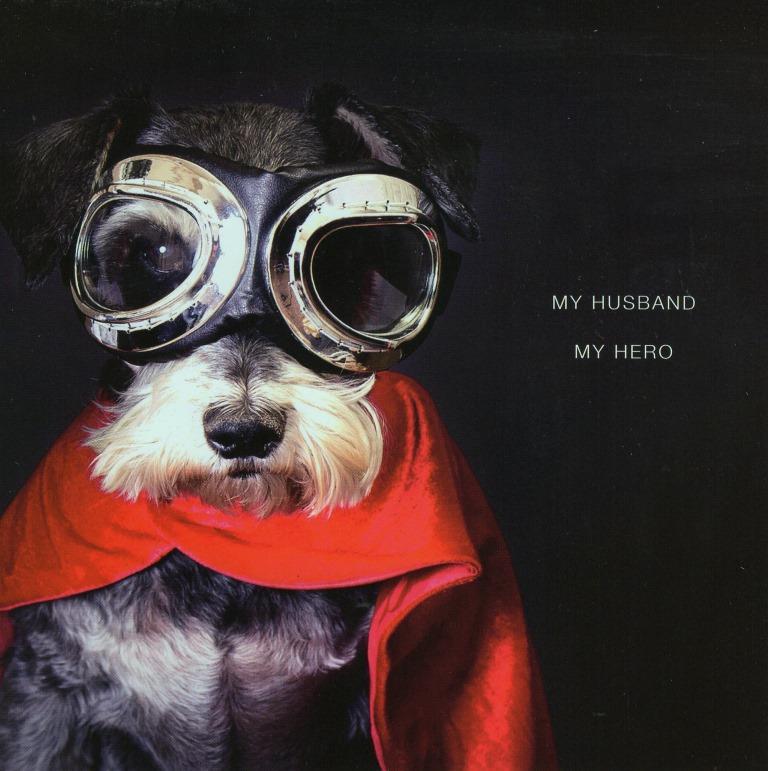 My Husband My Hero Dog Valentine S Card Cards Love Kates