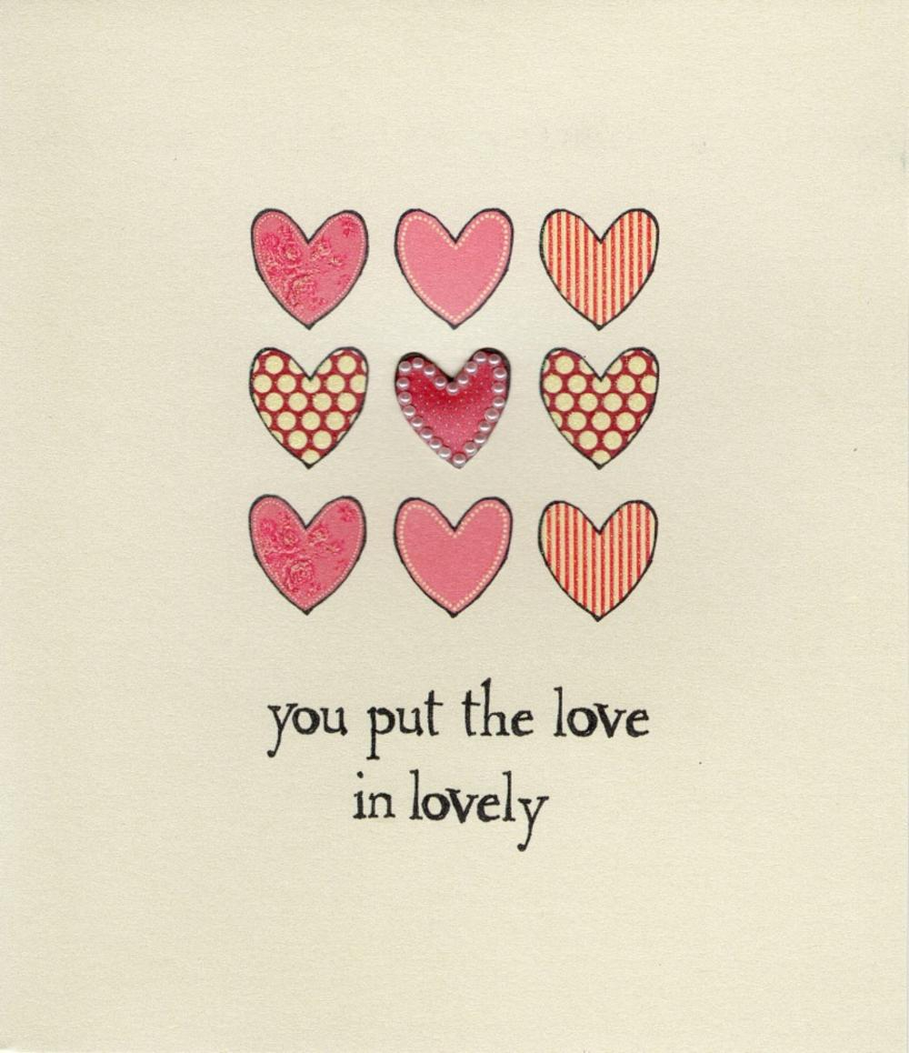 You Put The Love In Lovely Valentine's Card