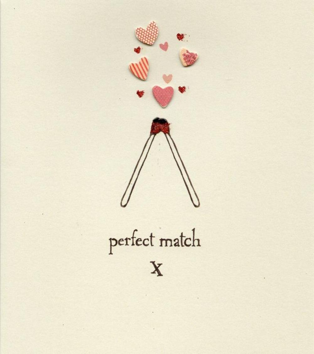 Perfect Match Lovely Valentine's Card
