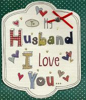 To My Husband I Love You Valentine's Day Card