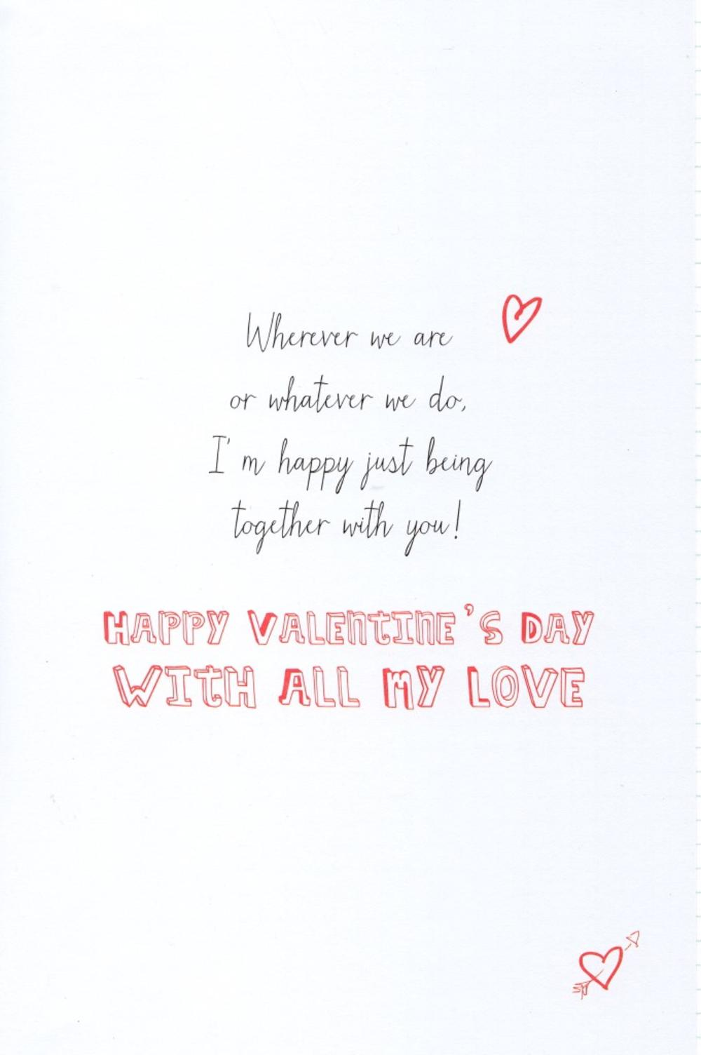 For My Husband Cat Dog Valentines Day Card Cards – Valentines Day Card for Husband