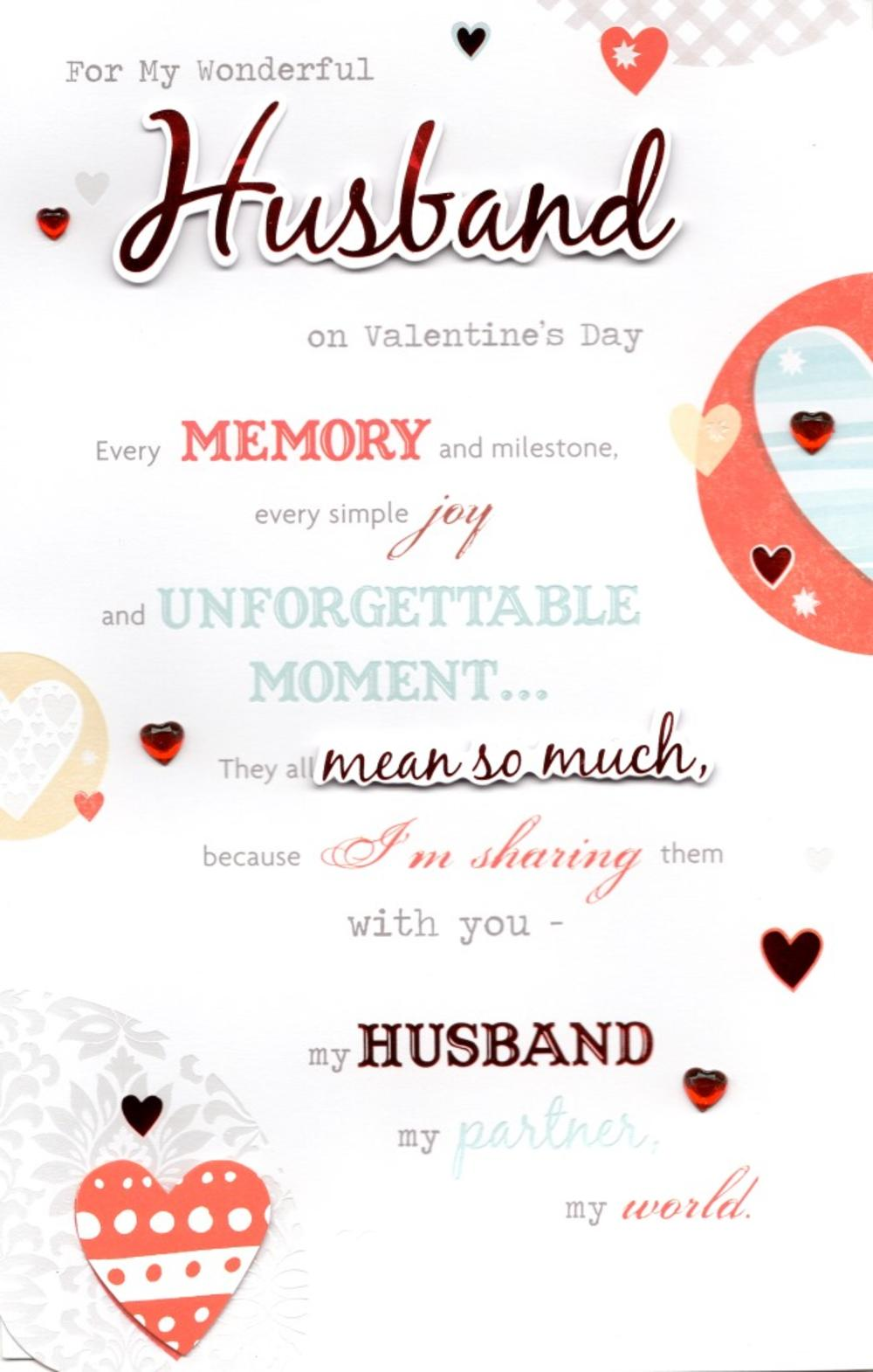 Husband valentine 39 s day greeting card cards love kates for What to put on a valentines card