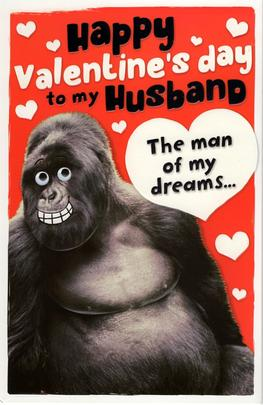Husband Sexy Beast Valentine's Day Greeting Card