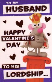 Lordship Husband Happy Valentine's Day Greeting Card