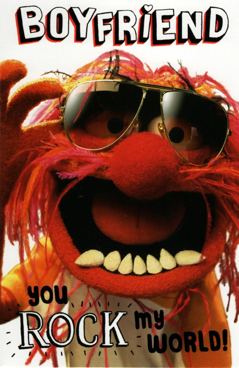 Boyfriend Muppets Animal Valentine's Card