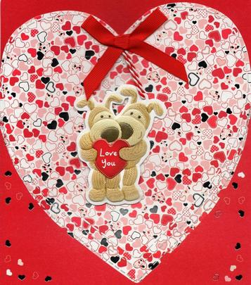 Boofle Love You Valentine's Day Card
