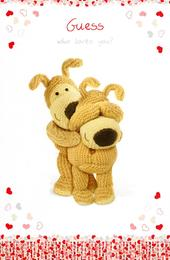 Boofle Guess Whoe Loves You? Valentine's Day Card