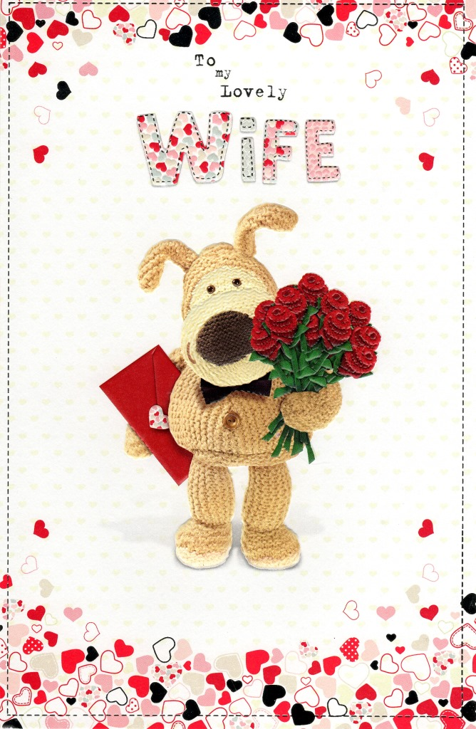 Boofle Lovely Wife Valentines Day Card Cards – Wife Valentine Card