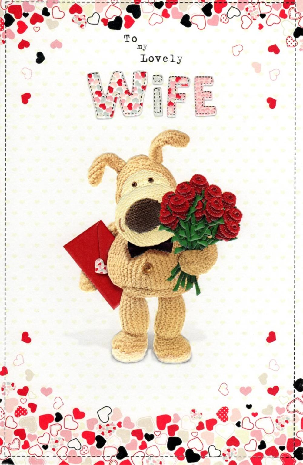 Boofle Lovely Wife Valentines Day Card Cards – Valentine Day Cards for Wife
