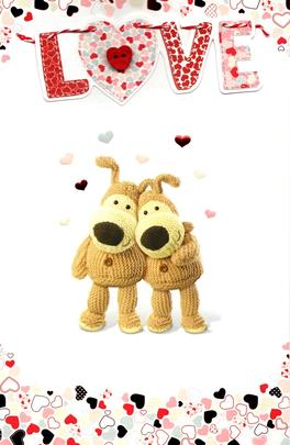 Boofle I LOVE You Valentine's Day Card