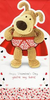 Boofle In His Pants Hero Valentine's Day Card