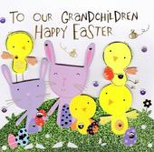 Happy Easter Grandchildren Greeting Card