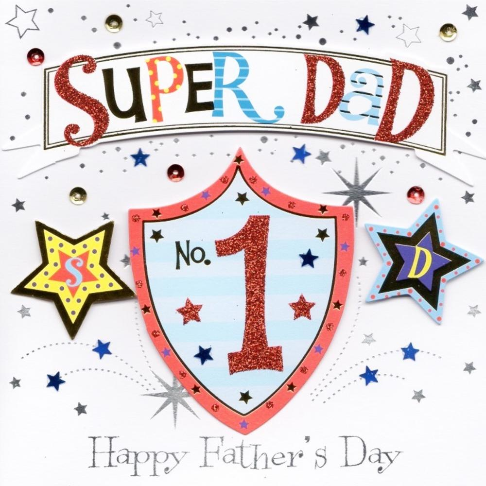 Super Dad Happy Father's Day Greeting Card