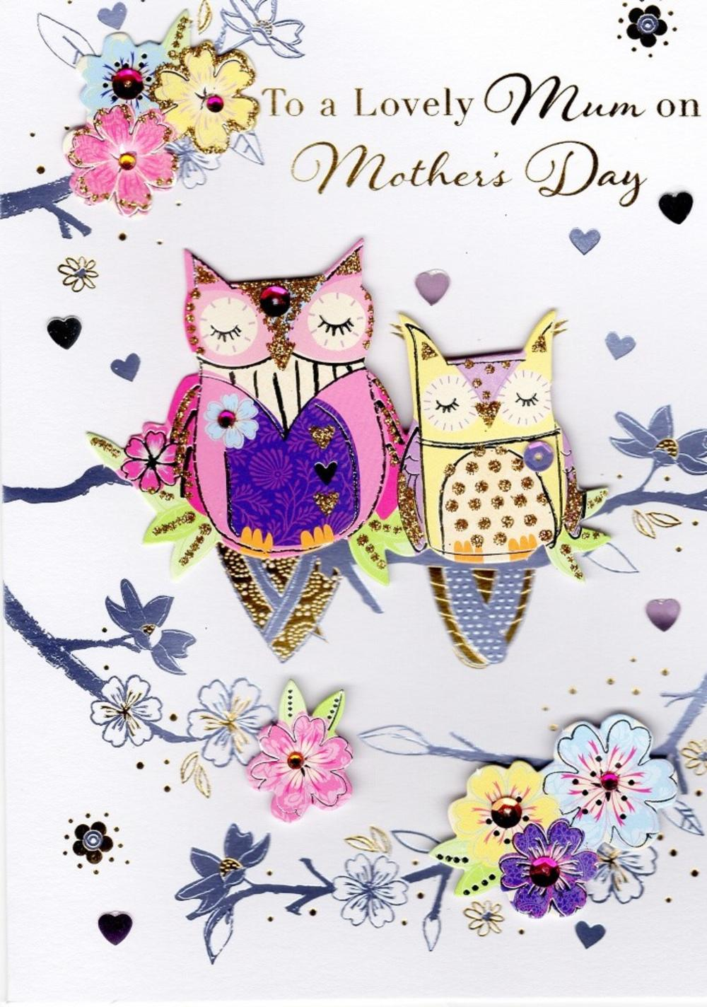 lovely mum owl happy mother u0027s day card cards love kates